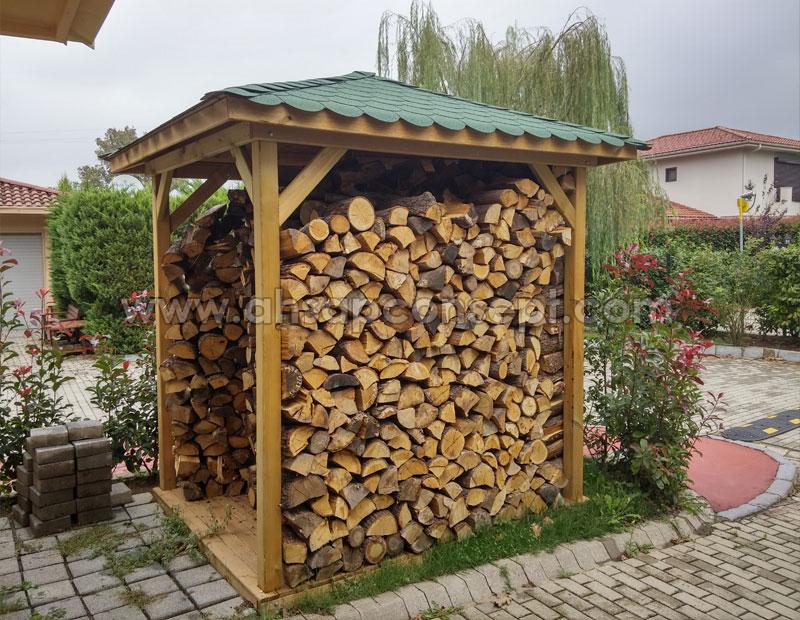 odunluk, odun kulübesi, kulübe, ardiye, ahşap odunluk